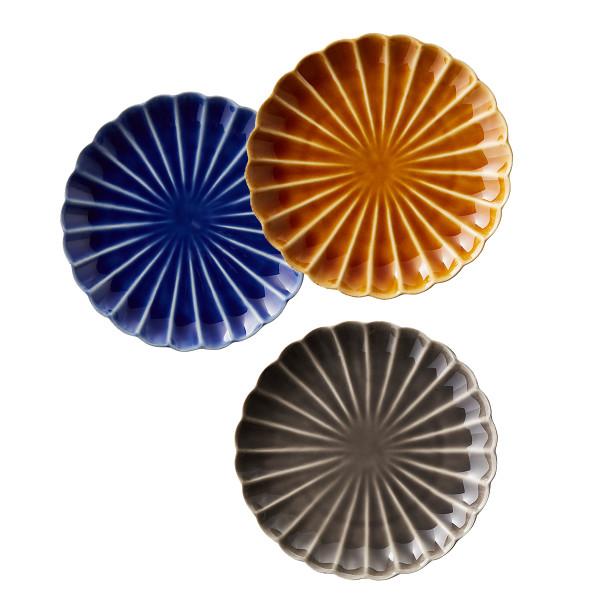 Cb2 petal ceramic appetizer plates