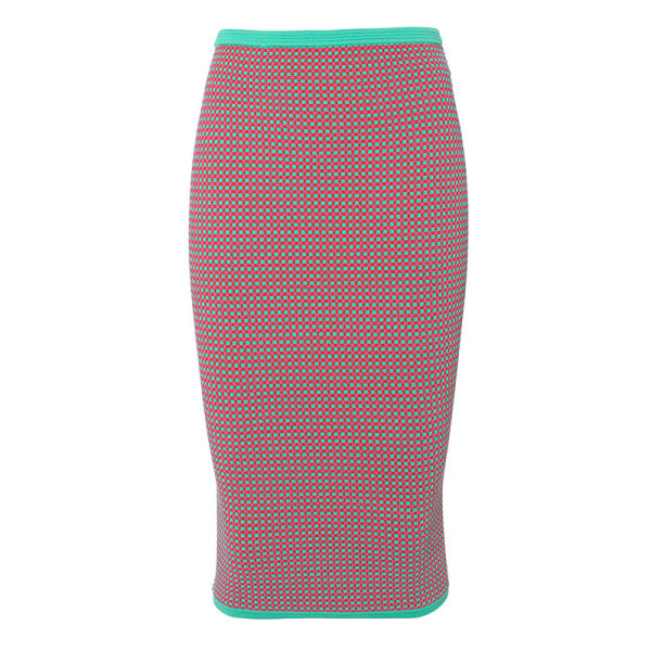 Dvf fitted jacquard pencil skirt