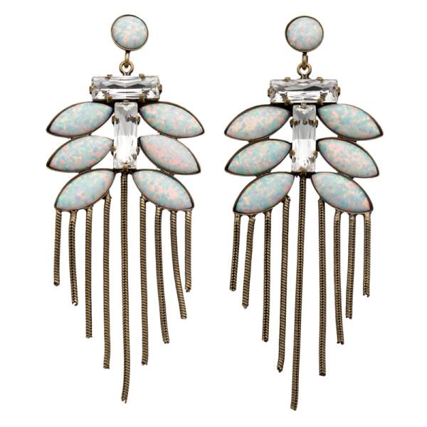Lionette by noa sade tahiti snow fern drop earrings