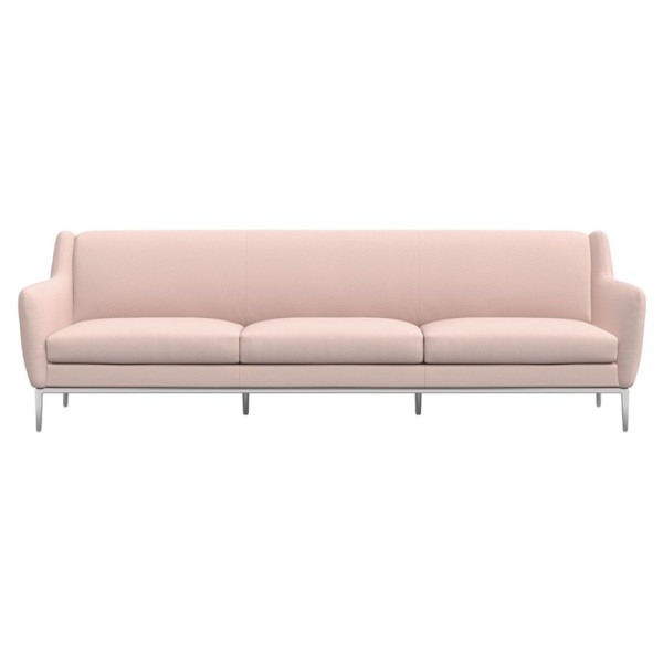 Cb2 alfred extra large blush sofa