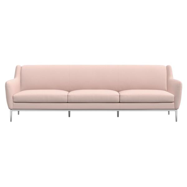 Cb2 alfred extra large blush sofa