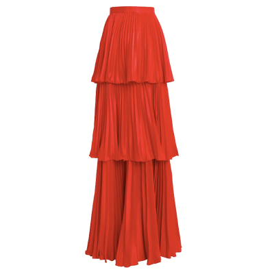 Amur eve tiered maxi skirt