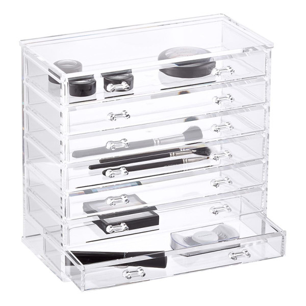 The container store 7 drawer premium clear acrylic chest