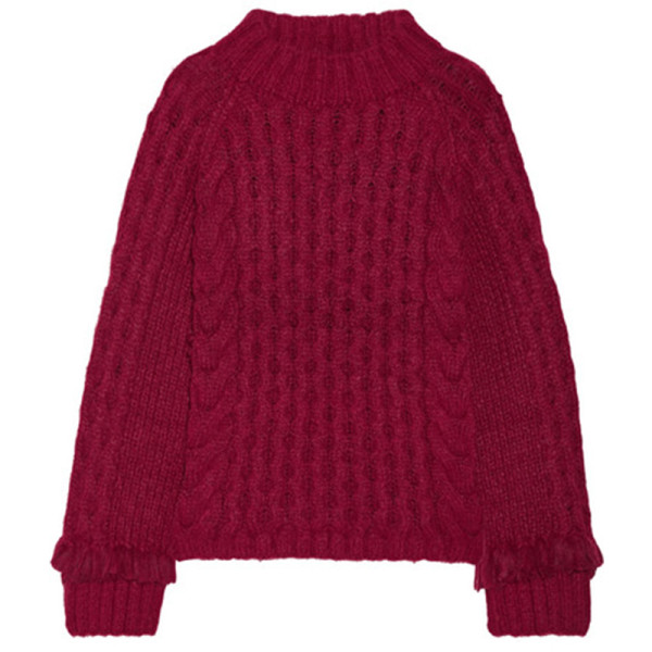 Eleven six lorena fringed sweater