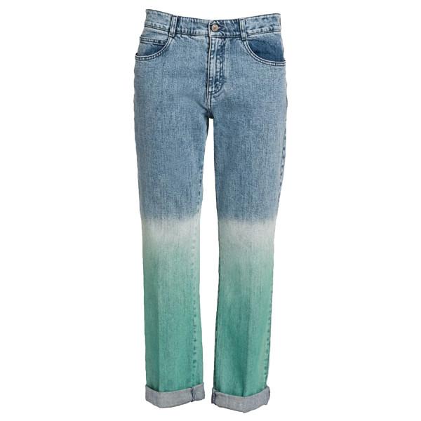 Stella mccartney mid rise dip dyed boyfriend jeans