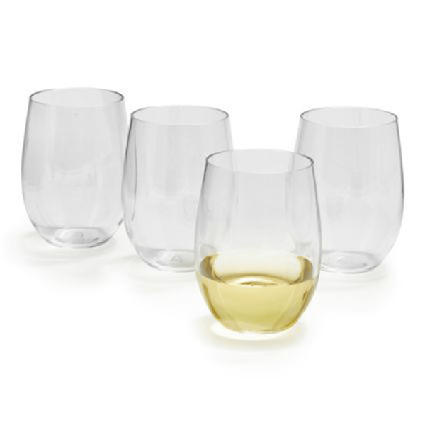 Sur la table acrylic outdoor stemless wine glasses  set of 4