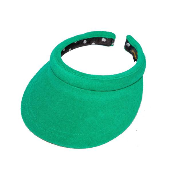 Green terry cloth visor