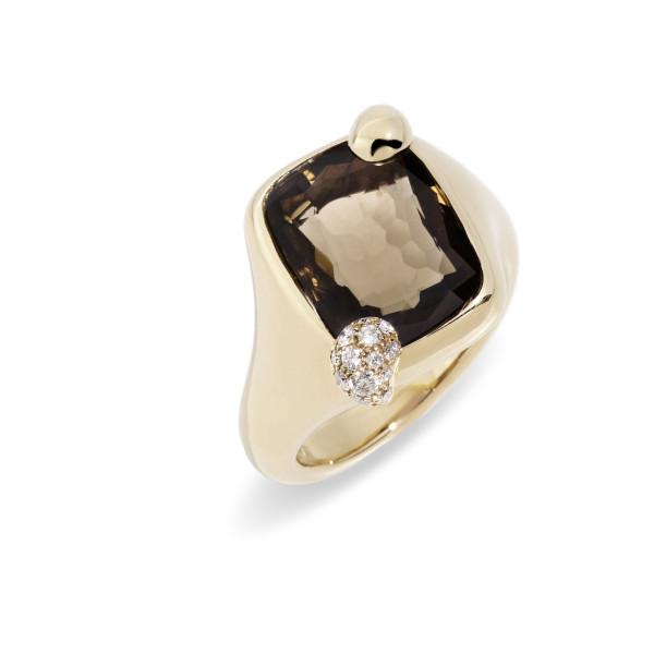 Ritratto ring smoky quartz by pomellato.