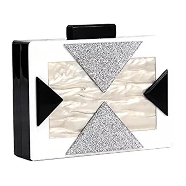 Funky junque square box clutch