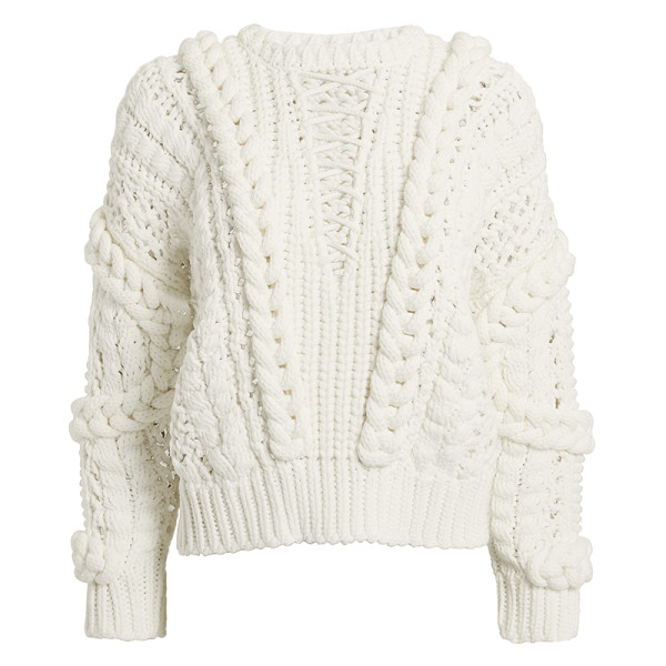 Iro fresh lace up sweater