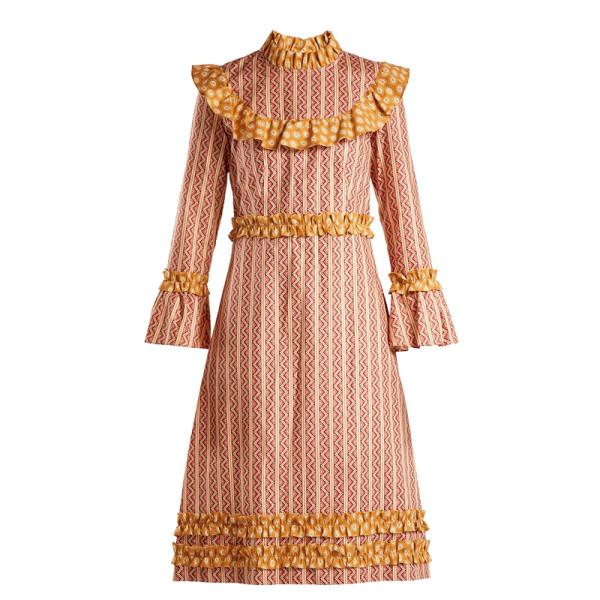 Batsheva ruffled cotton dress