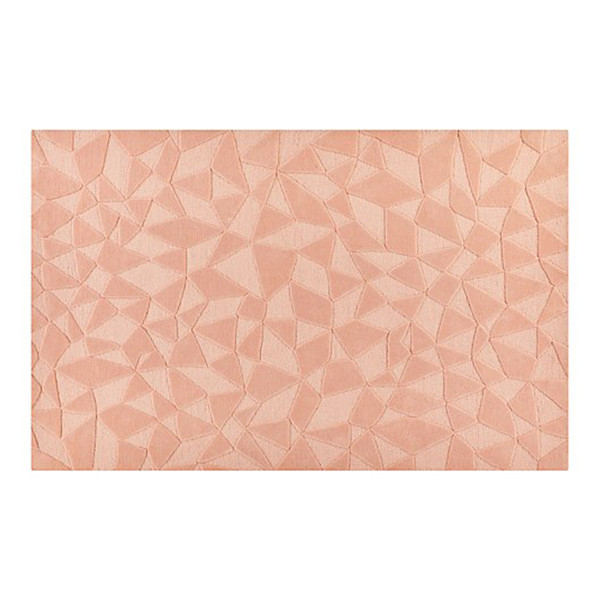 Crate   kids modern solid pink rug