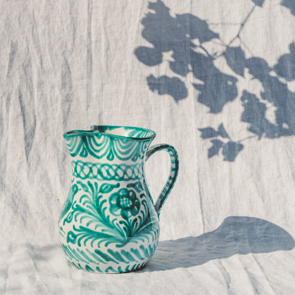 Pomelo casa verde small pitcher with hand painted designs