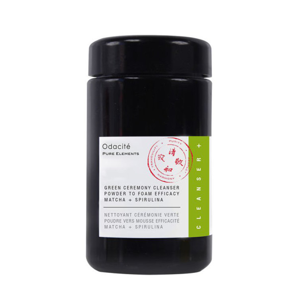 Odacite   green ceremony cleanser powder to foam efficacy matcha   spirulina