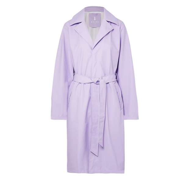Rains matte pu trench coat