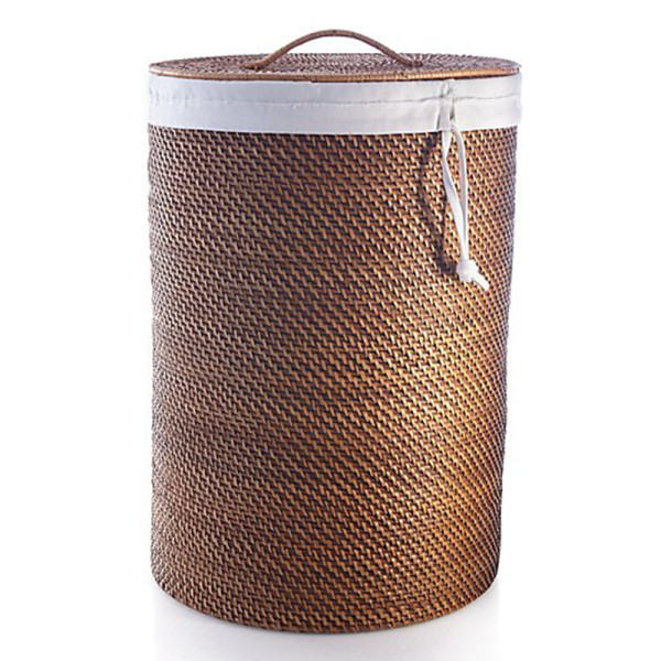 Crate   barrel sedona honey hamper with liner set