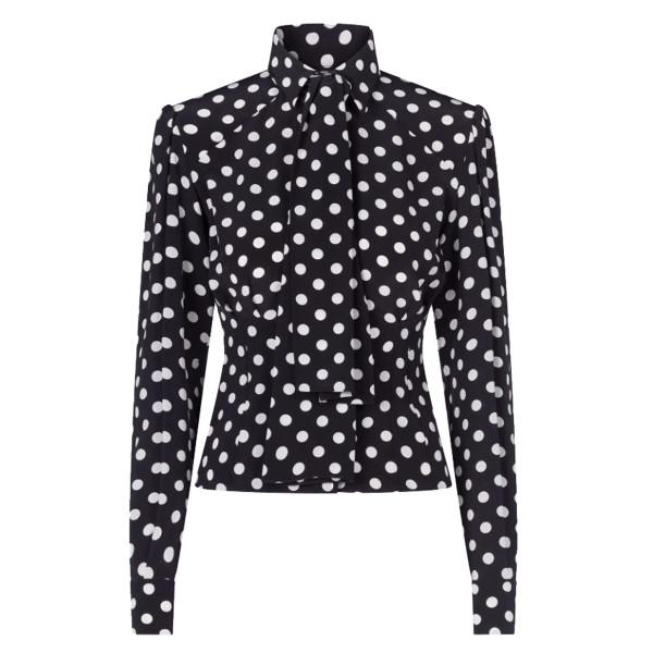 Dolce   gabbana polka dot print crepe de chine shirt
