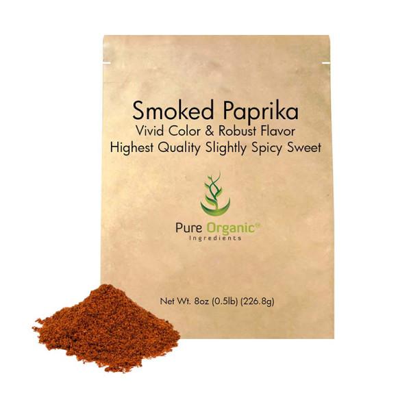 Pure organic ingredients smoked paprika