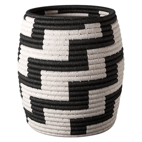 Cb2 tatum black and white basket