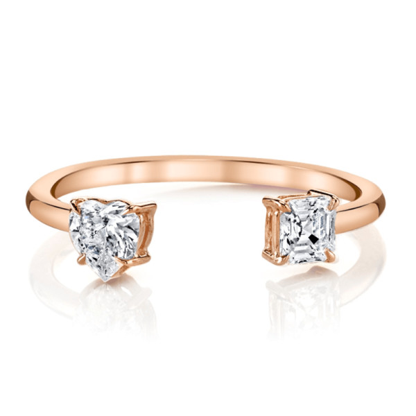 Anita ko split 18 karat rose gold diamond ring