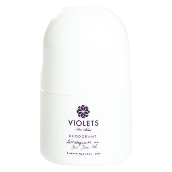 Violets are blue deodorant in lemongrass and tea tree oil