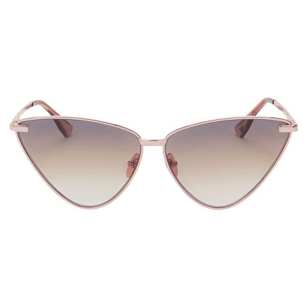 Le specs luxe nero cat eye rose gold sunglasses