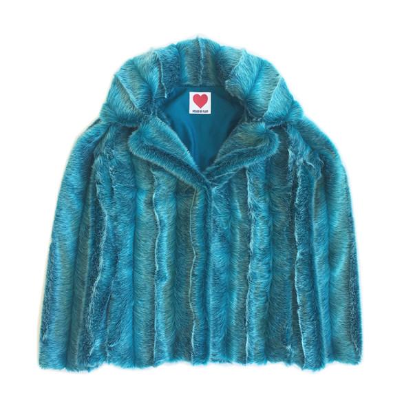 Turquoise mink jacket
