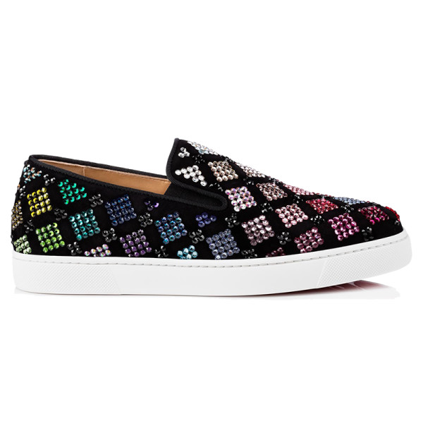 huge selection of fccc1 3a9c4 Christian Louboutin - Arlettenbato Embellished Suede Sneakers