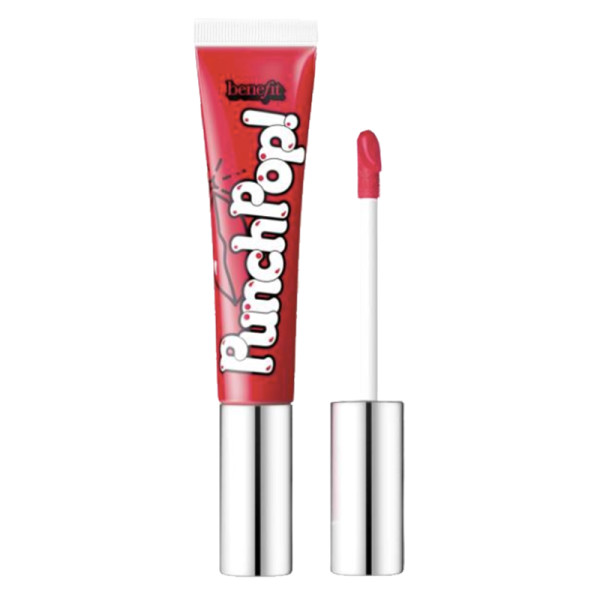 Benefit cosmetics punch pop  liquid lip color in strawberry
