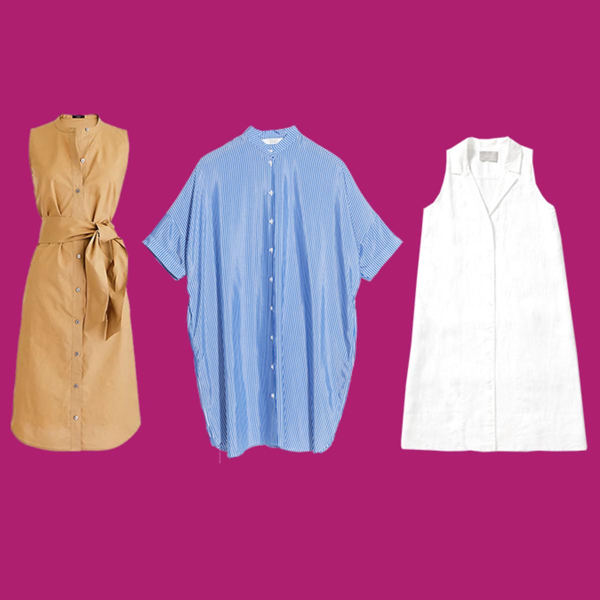 Shirt dress square