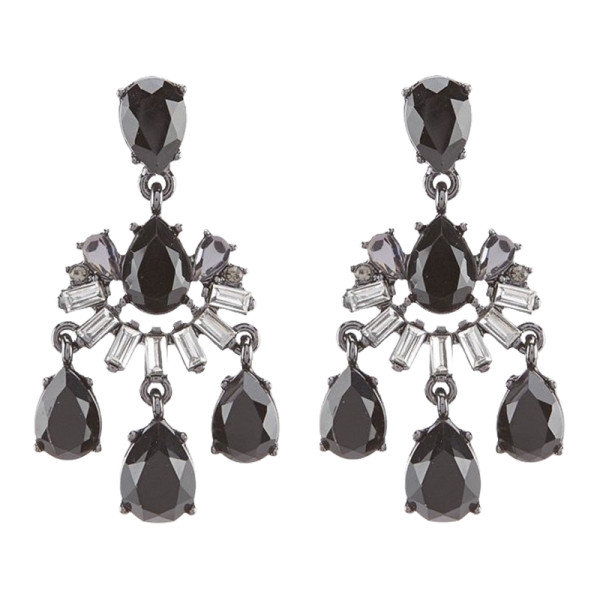 Carolee midnight tower mini chandelier earrings