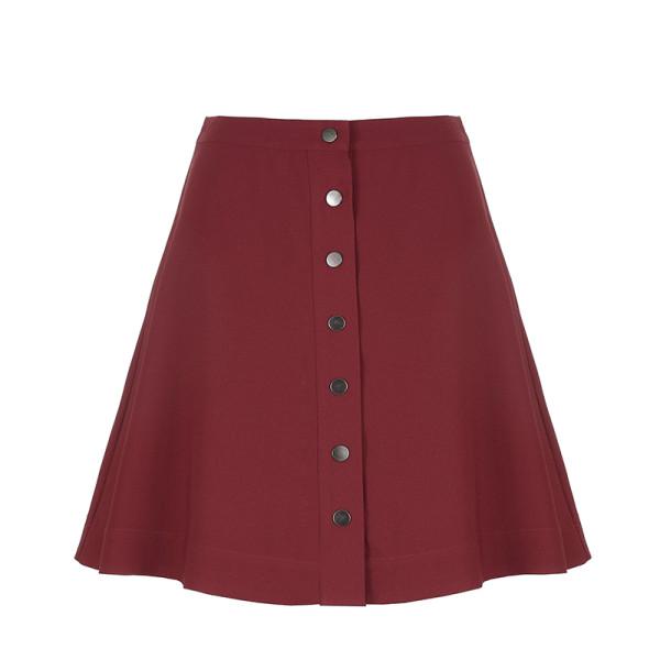 Avec les filles button front a line mini skirt