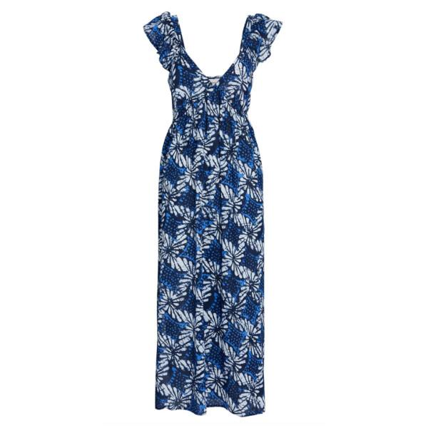 Leyla printed cotton midi dress