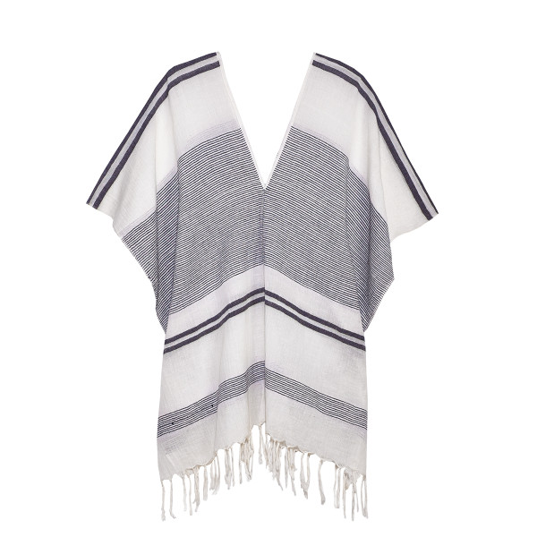 Pondicherie jaya knotted trim v neck tunic