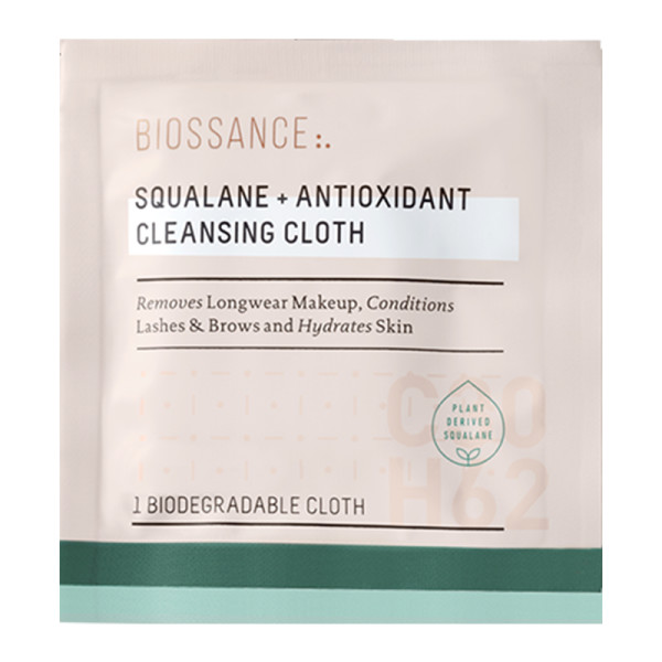 Biossance squalane antioxidant cleansing cloths
