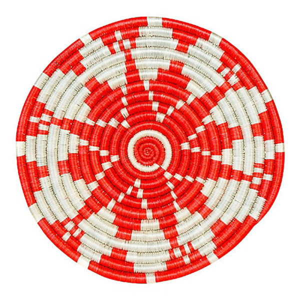 All across africa hope kisumu trivet  blazing orange ivory