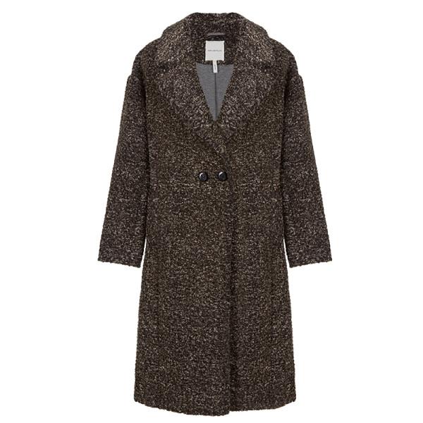Avec les filles fleece boucle   cocoon coat