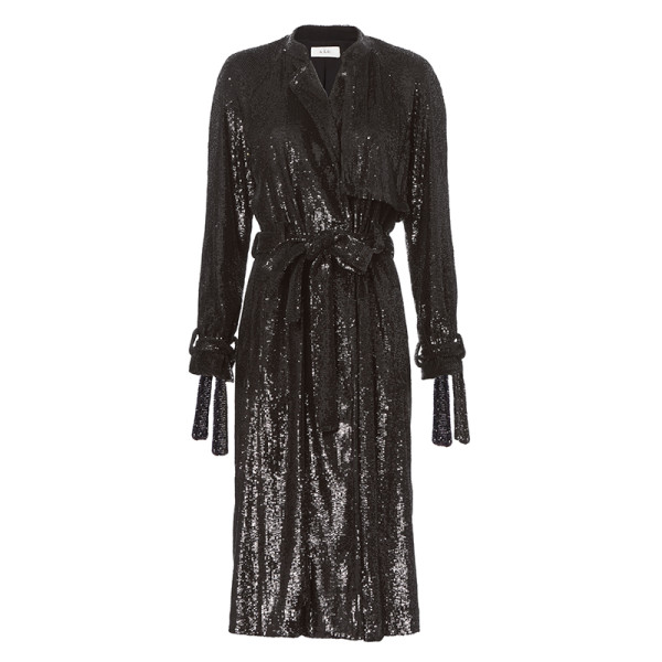 A.l.c holloway sequin trench jacket