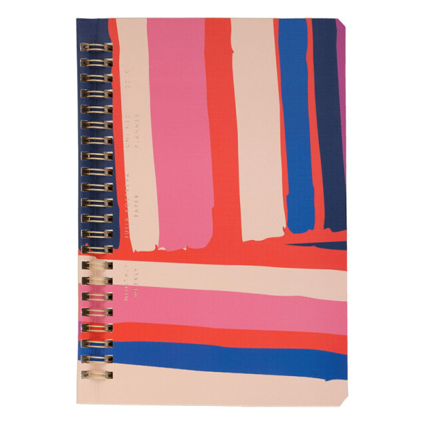 Julia kostreva 2019 planner pink stripe abstract
