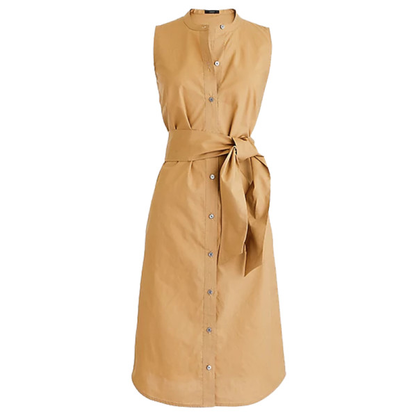 J. crew sleeveless shirtdress