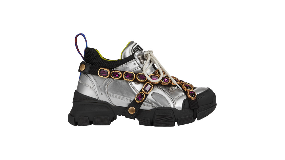 d35f2b24981 Gucci - Flashtrek Sneaker With Removable Crystals