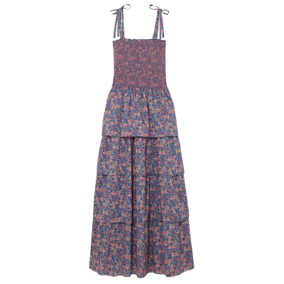 Loveshackfancy caressa smocked tiered floral print cotton maxi dress