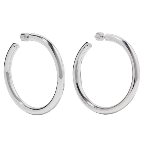 Samira silver hoops