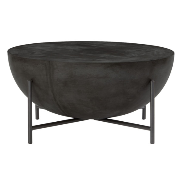 Cb2 darbuka black coffee table
