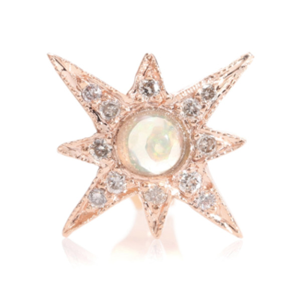 Jacquie aiche shining star 14kt gold opal stud