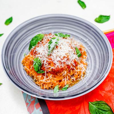 Spicy Truffle Spaghetti Squash