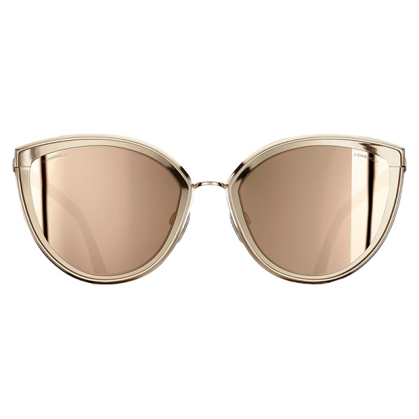 Chanel cat eye sunglasses   gold