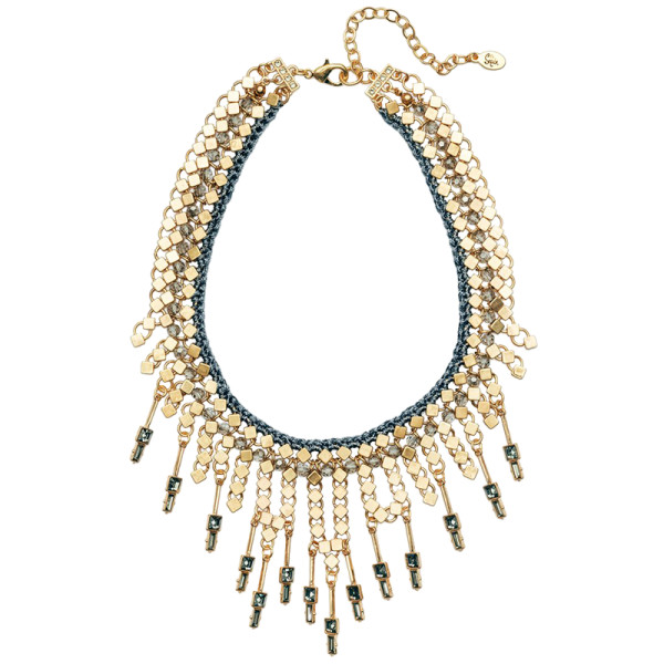 Sequin falling stars statement choker necklace