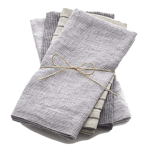 Crate and barrel suits linen cloth dinner napkins  set of 4