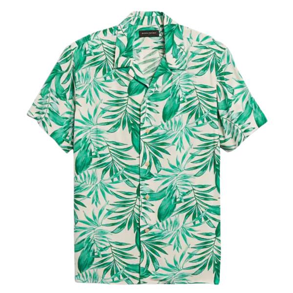 Rayon camp collar shirt